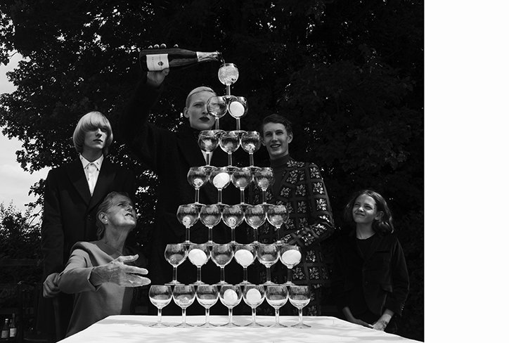 Jack Davison shoots a surreal dinner party for Luncheon magazine