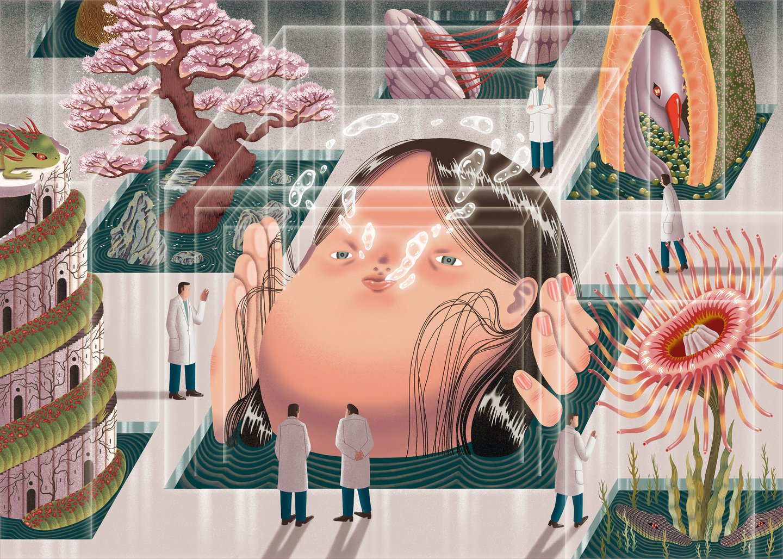 Enter the labrynthine universe of surrealist illustrator Dani Choi