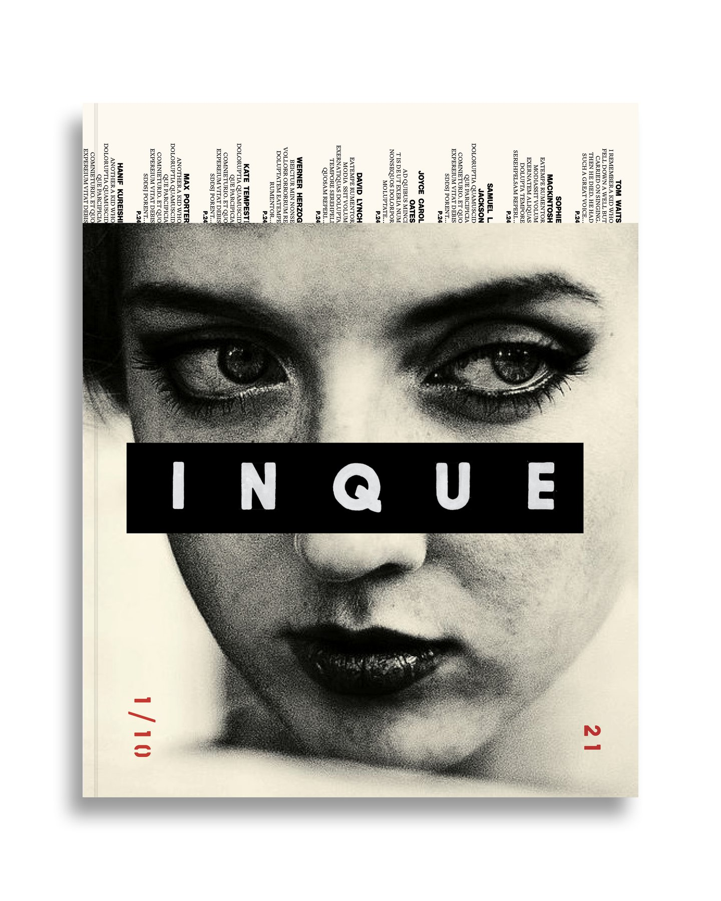 Inque is an ad-free annual publication with a fixed ten-year shelf life