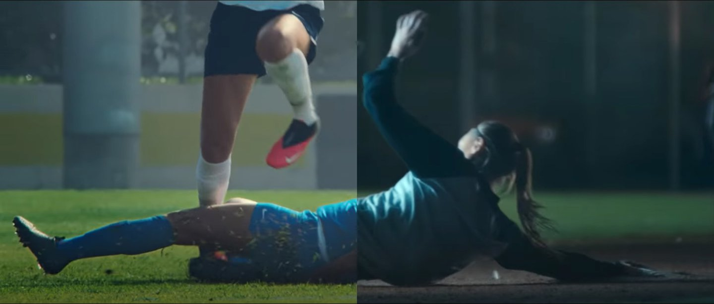 Nike S Split Screen You Can T Stop Us Ad Perfectly Matches Old And New Footage